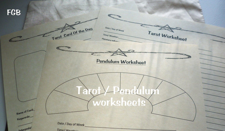 Divination Worksheet Set