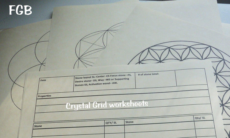 10 Pc Crystal Grid Worksheets