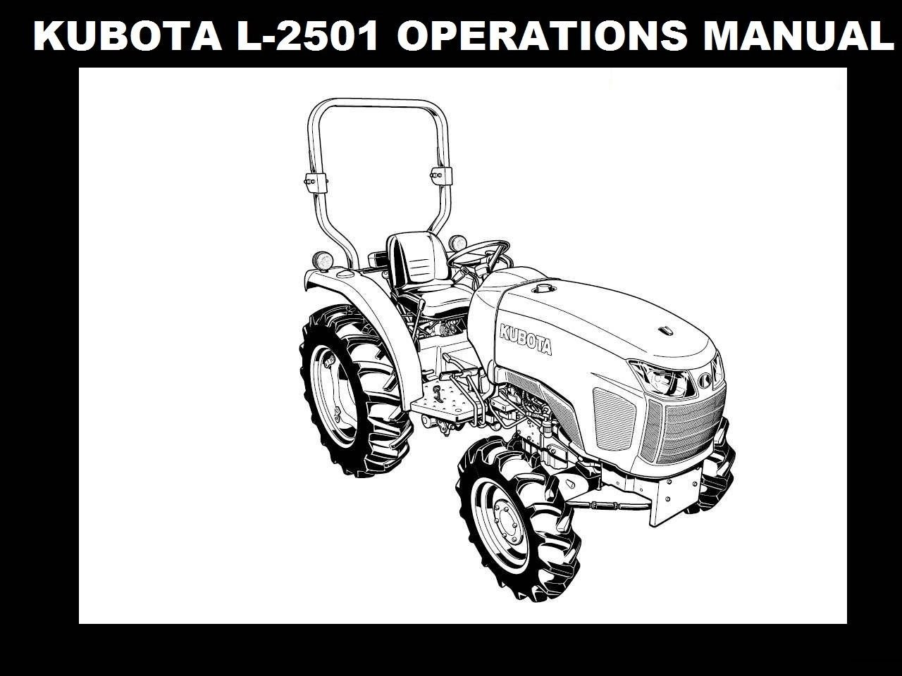 Kubota L Operations Manual 95pg For L Tractor