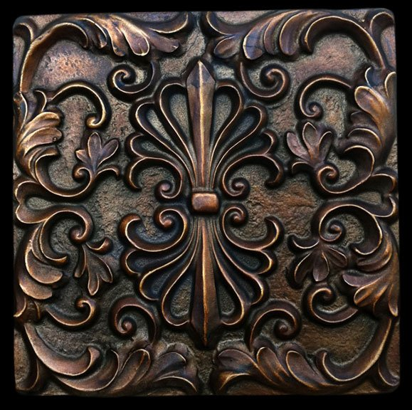 Bronze Finish Decorative Backsplash Tile