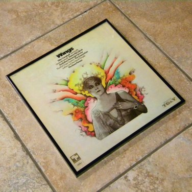 Framed Vintage Record Album Cover – Wings