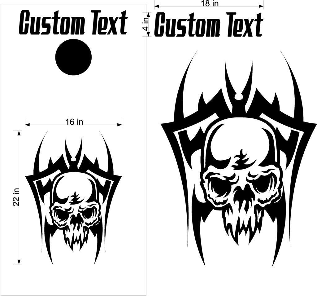 Custom Cornhole Board Decals Stickers Skulls Amp Jokers 9b