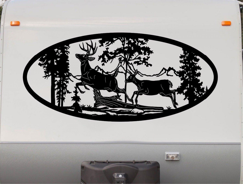 Deer Doe Buck Mountains Rv Camper 5th Wheel Motor Home
