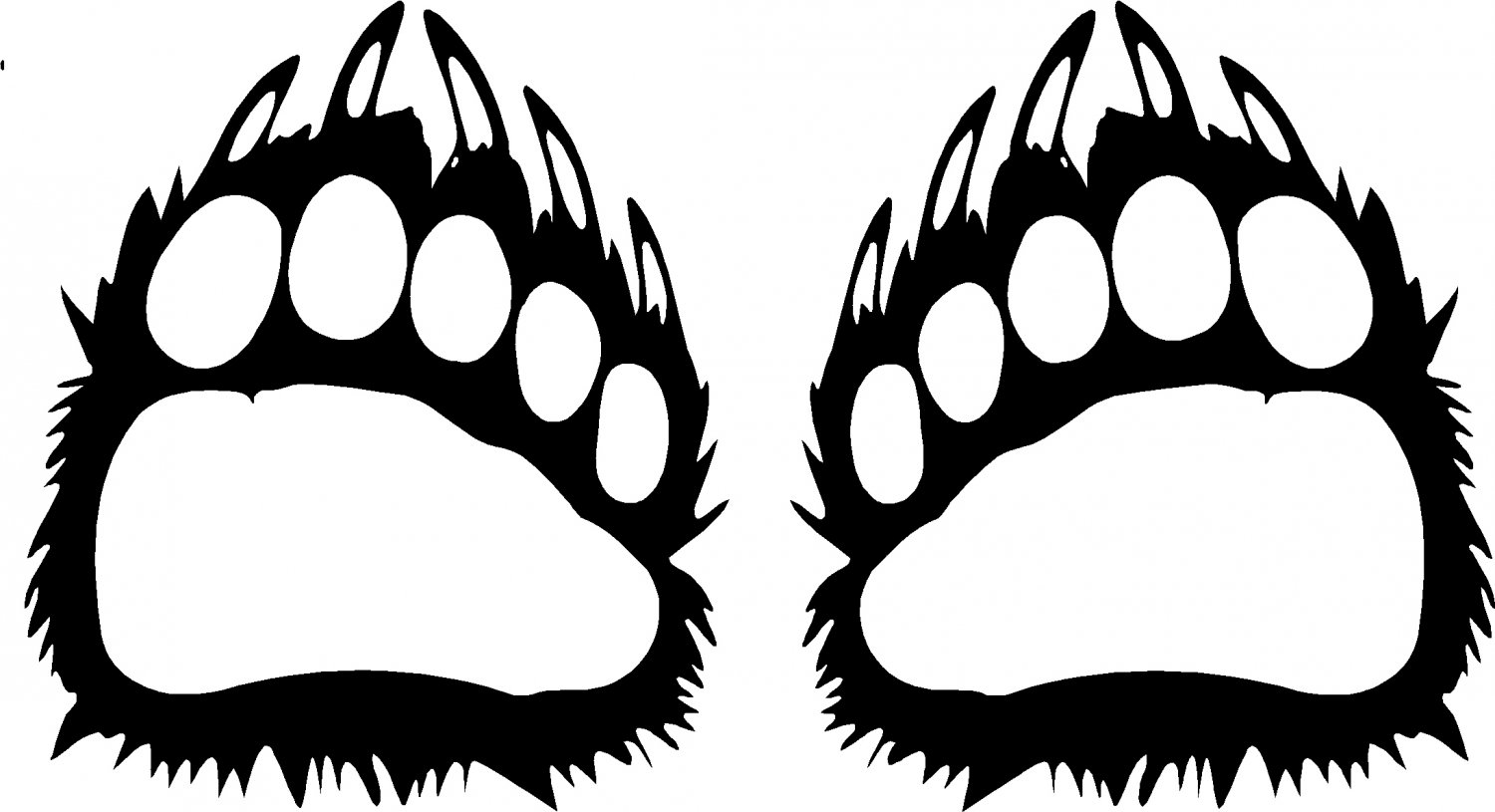 Bear Claw Vinyl Decal Stickers Ice Is For 2