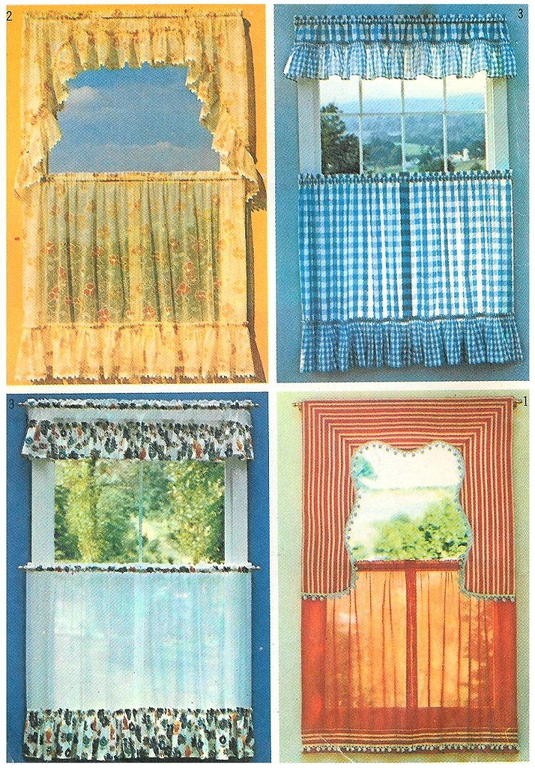 70 s cafe curtain sewing pattern