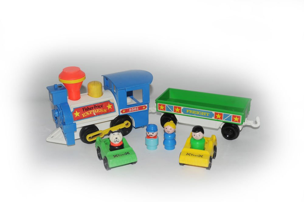 Fisher Price Little People Express Train 2581 All Original