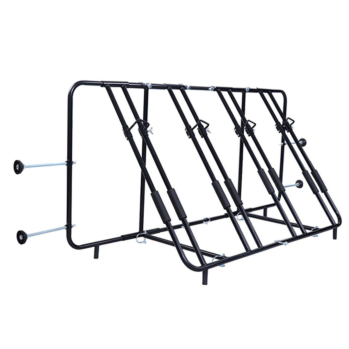 Goplus Adjustable Four Bicycle Bike Rack Truck Pick Up Bed