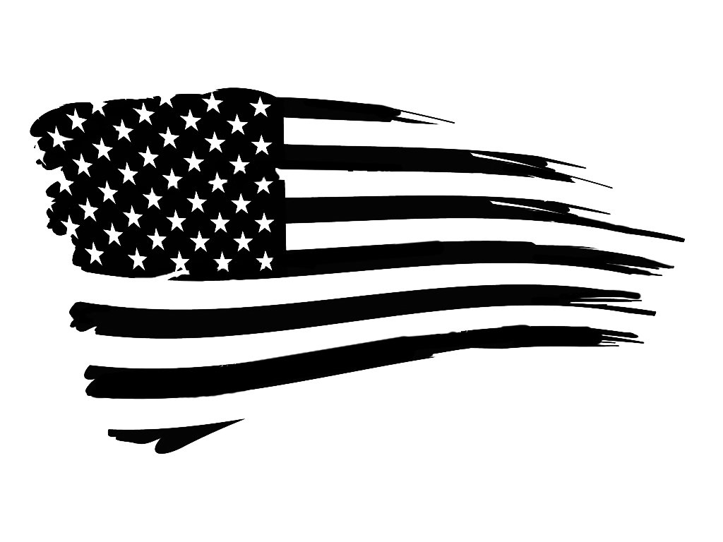 Patriot Flag 6 Black Vinyl Decal Sticker Laptop Wall Car