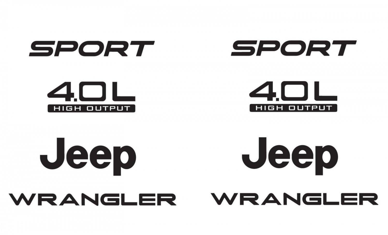 Jeep Sport 03 06 Vinyl Refresh Kit Tj 4 0l Stickers Emblem