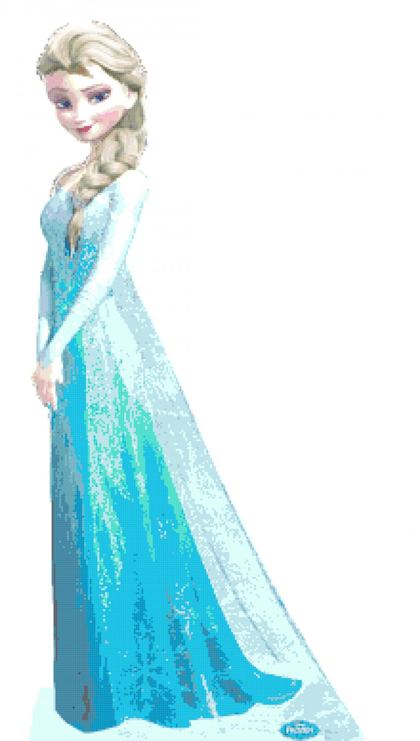 Princess Elsa Pose 1253 X 2707 Cross Stitch