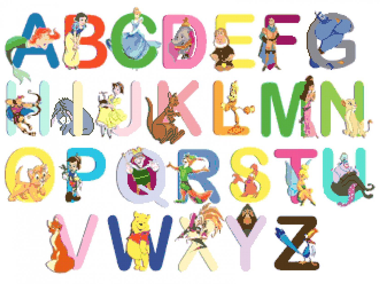 Alphabet Disney Characters