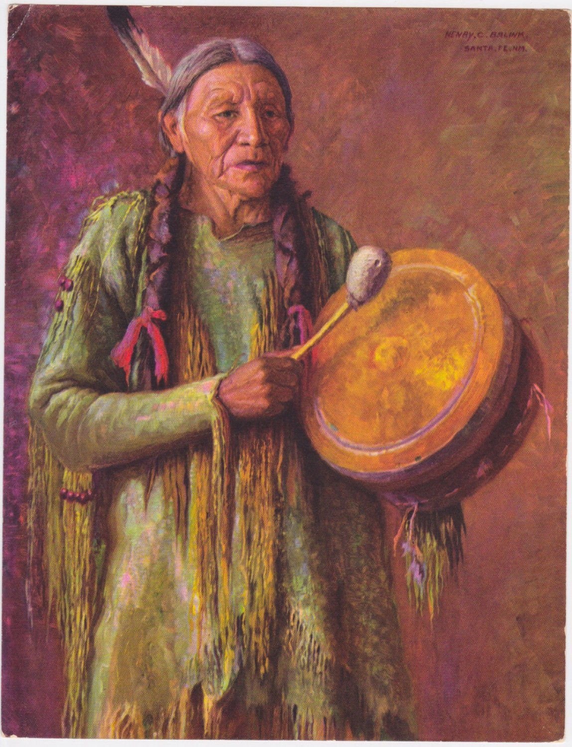 Native American Indian New Mexico The Drummer Henry C