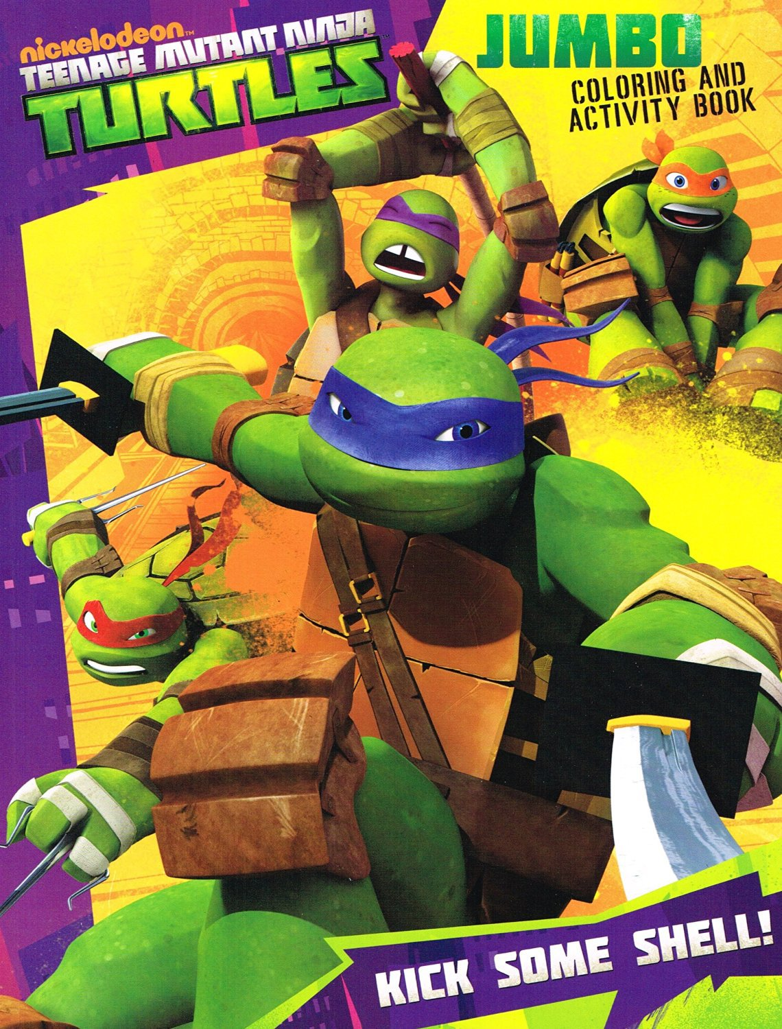 Teenage Mutant Ninja Turtles Jumbo Coloring Amp Activity Book Kick Some Shell