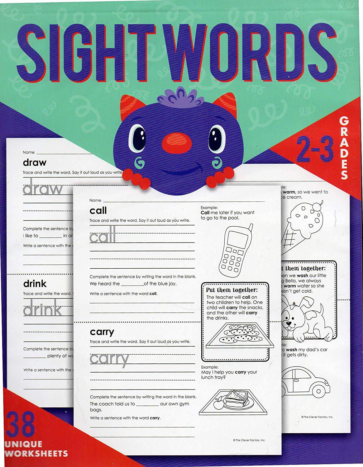 Sight Words Educational Workbook Reproducible