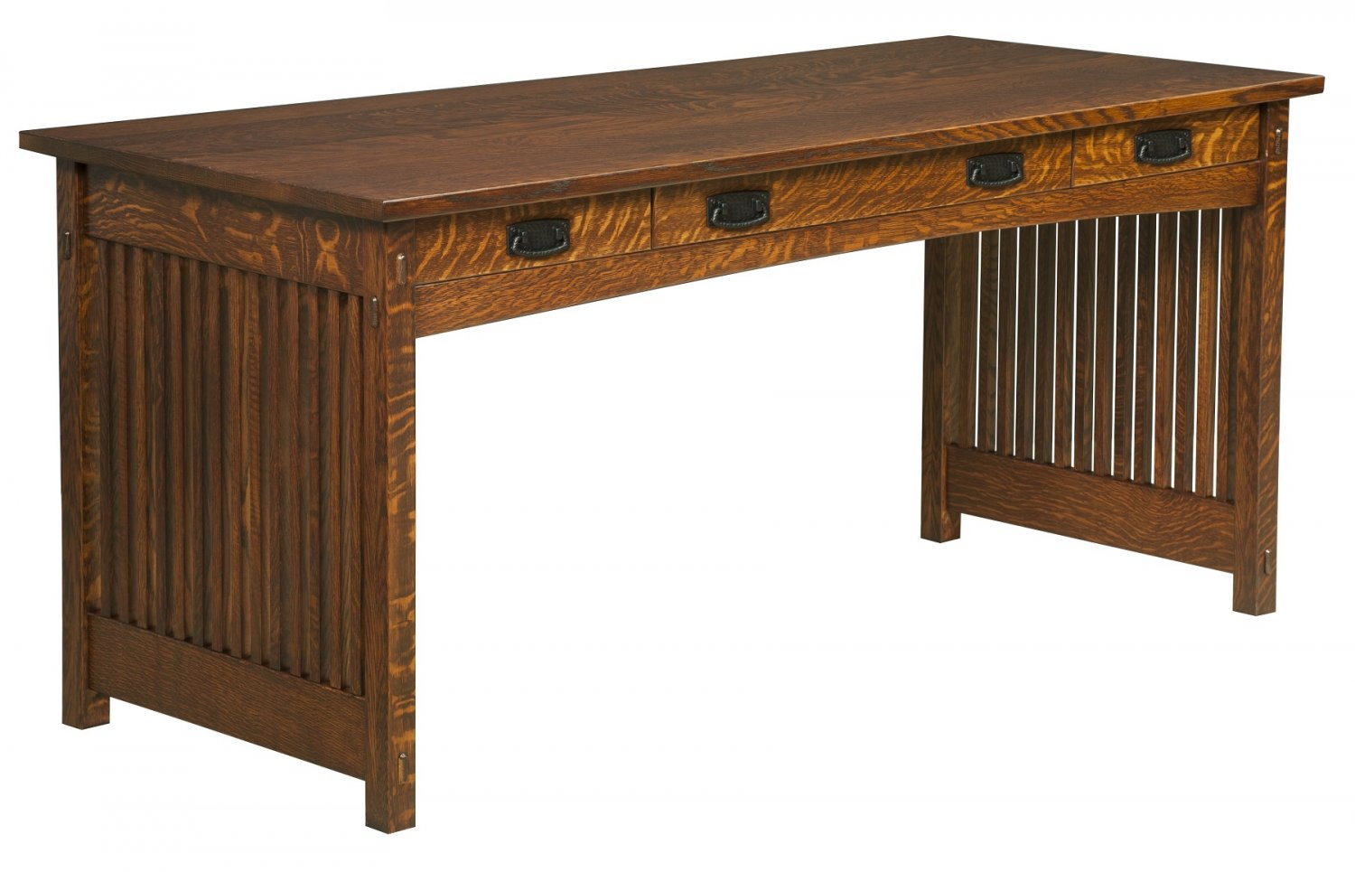 Amish Handcrafted Mission Secretary Writing Office Desk