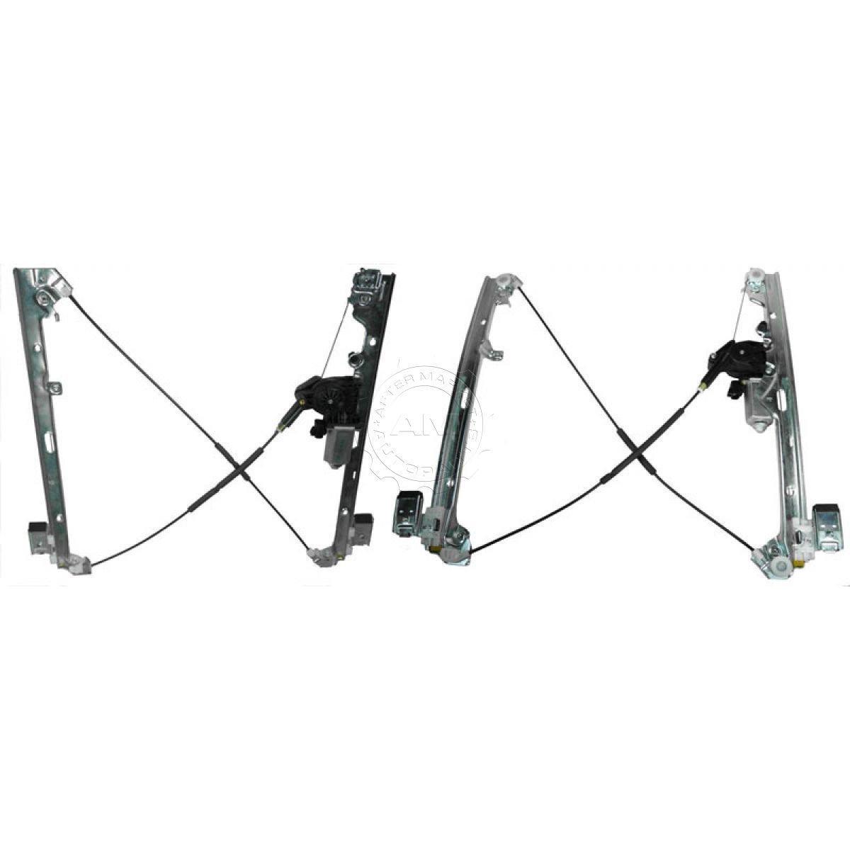 New Front Power Window Regulator W Motor Pair Set For