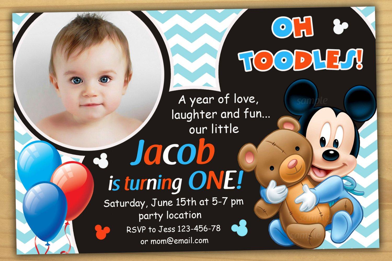 baby mickey mouse invitation mickey
