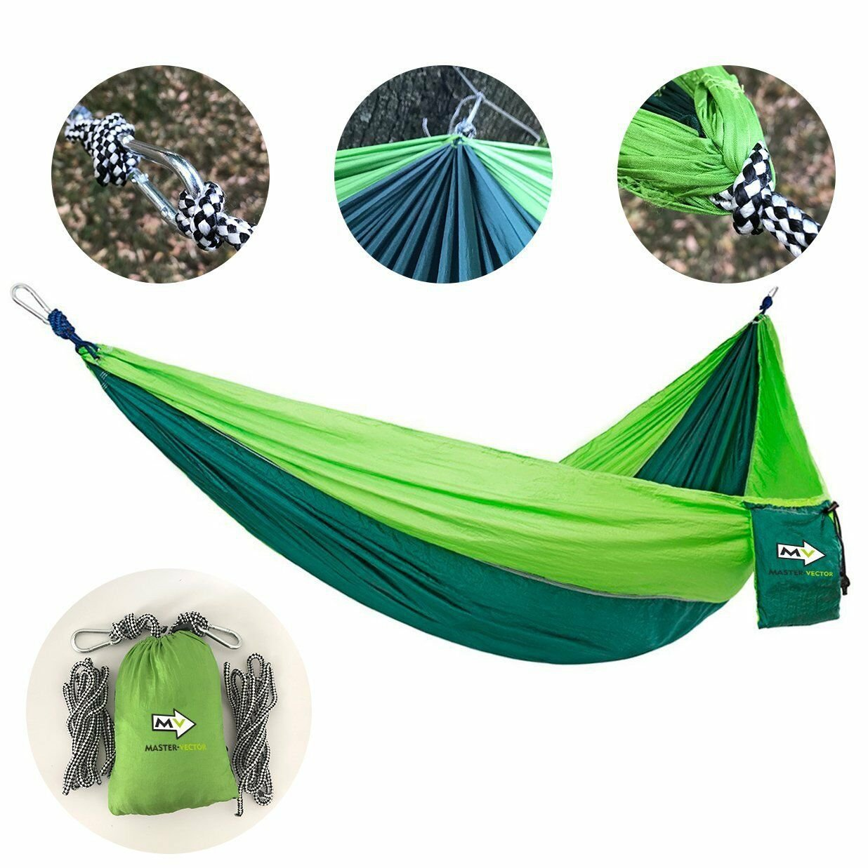 Hammock Stong Easy And Comfortable Outdoor Relax Green Color