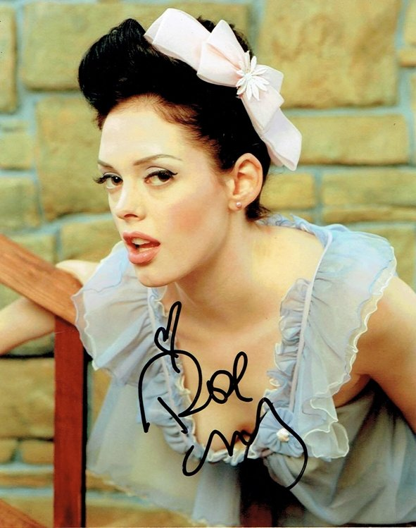 "Rose McGowan 8 x 10"" Autographed Photo Charmed /Scream ..."