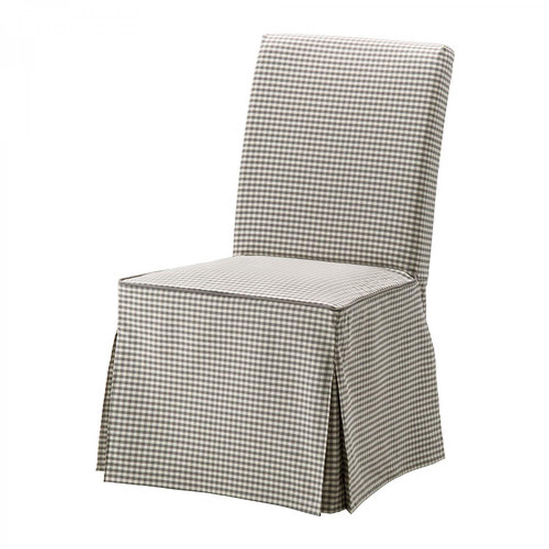 IKEA HENRIKSDAL Chair SLIPCOVER Cover Skirted SAGMYRA Gray