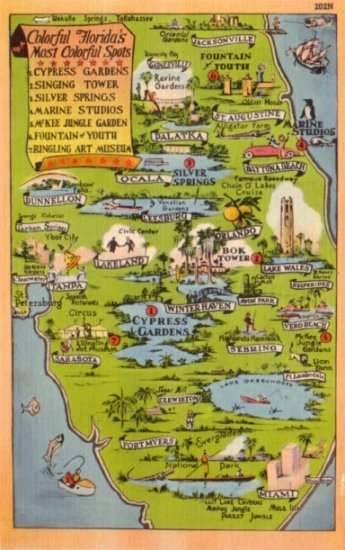 Cypress Gardens Post Card