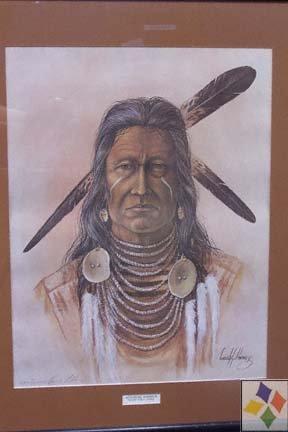 Apsaroke Indian Warrior Print By Enoch Kelly Haney