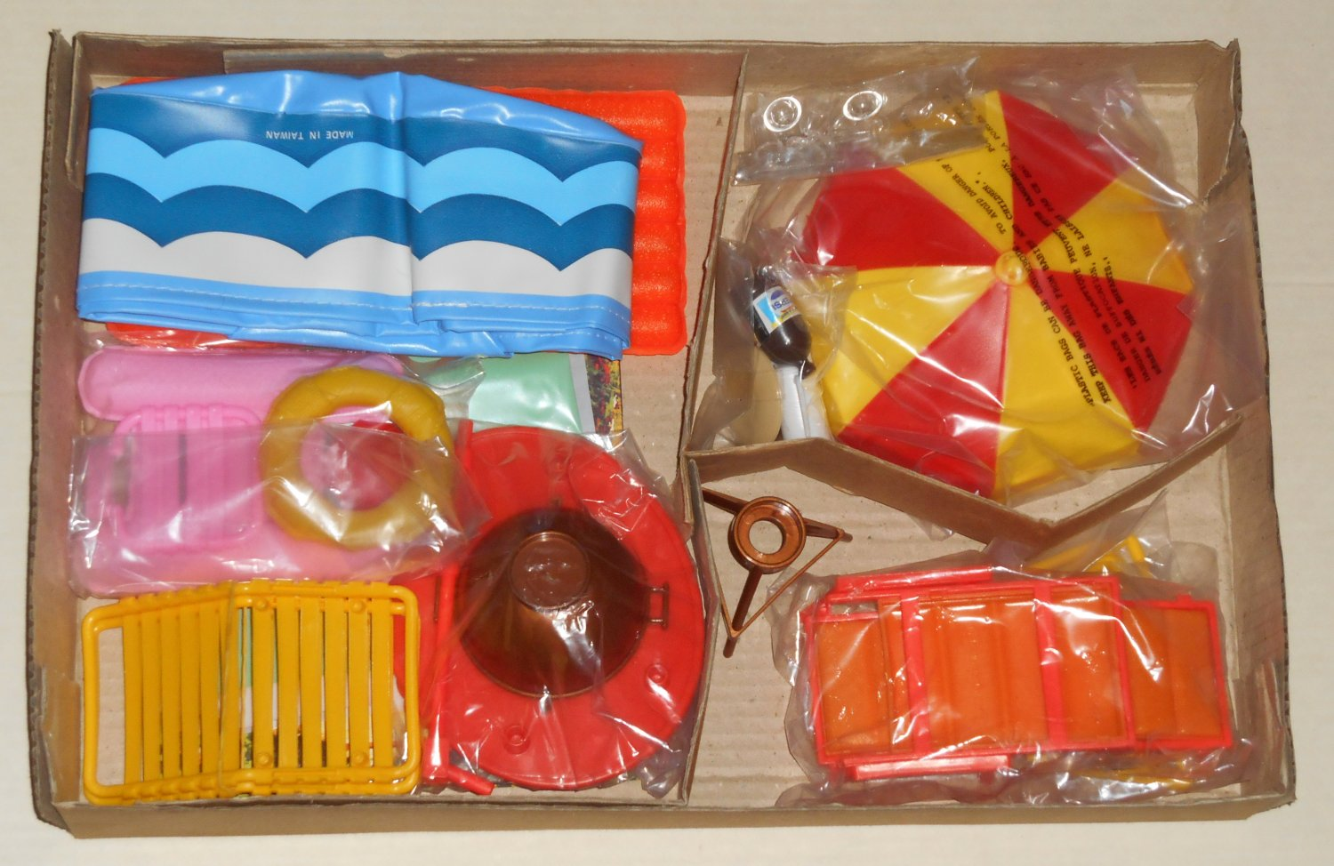 Arco Fashion Doll Backyard Pool Set Unused Complete 7688 For Use With Barbie Other 8 11 Dolls