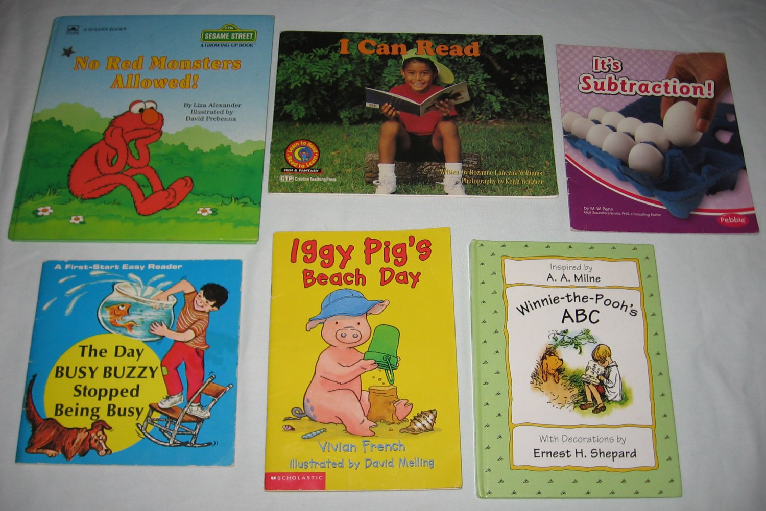 Lot Of 6 Learning To Read Abc Counting Pre K
