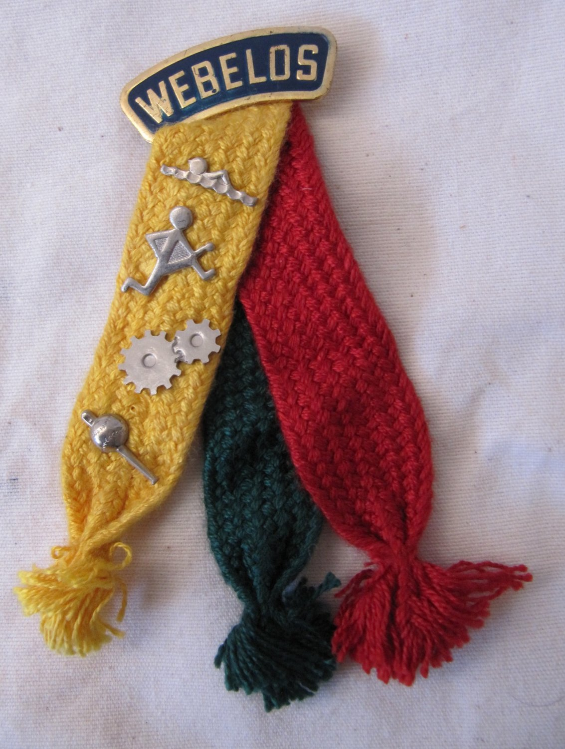 Vintage Boy Scout Webelos Colors Pin With 4 Activity Pins