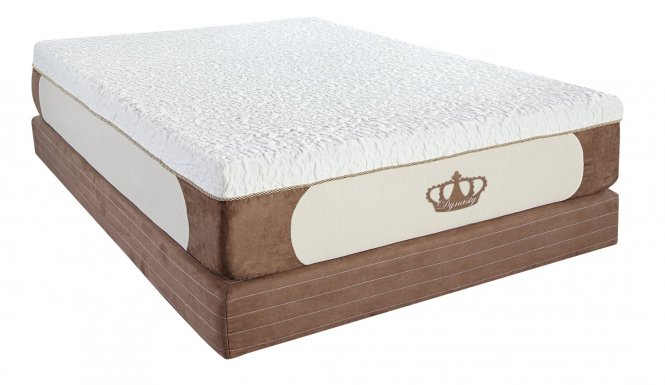 Dynasty Mattress 14 Coolbreeze Gel Memory Foam Free Pillows Calking