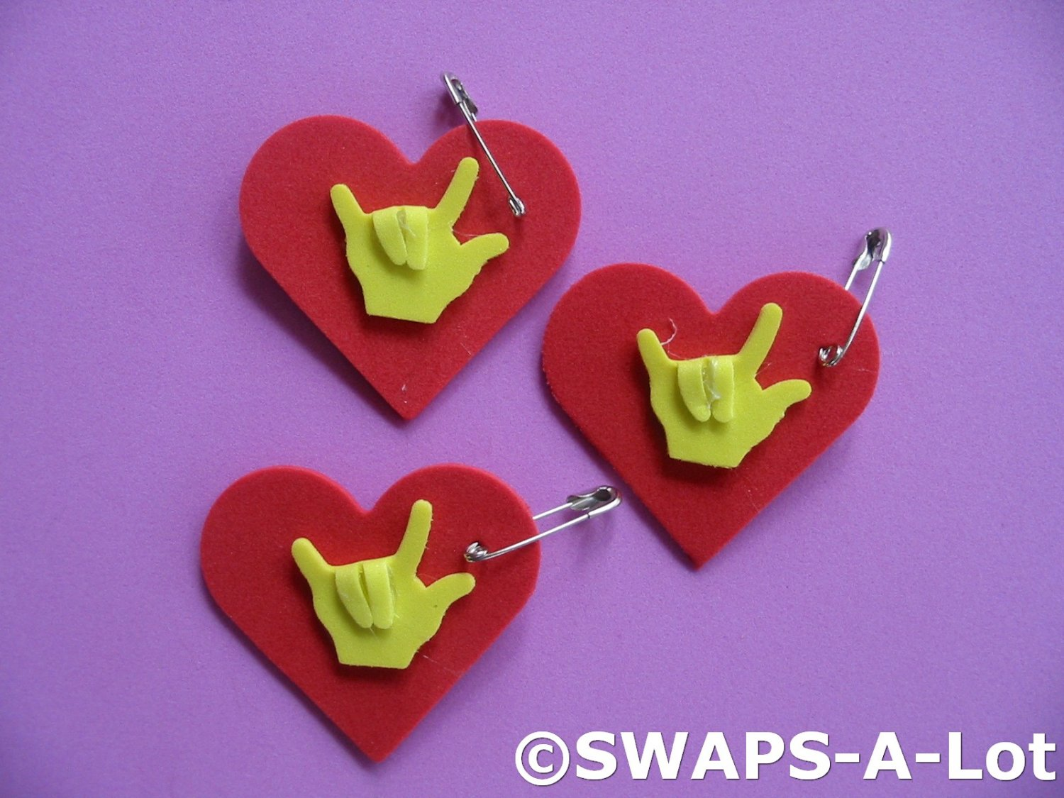 Mini Heart I Love You Sign Language Swaps Kit For Girl