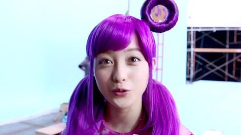 「橋本環奈 CM 紫 ウィッグ」の画像検索結果