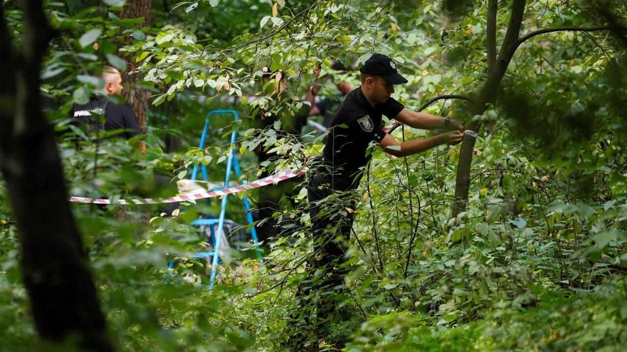 Police are investigating where the body of the Belarusian opponent was found in Kiev, Ukraine, on August 3, 2021.