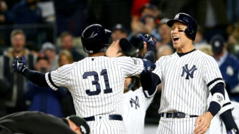 Yankees strike early against Astros, stay alive in MLB playoffs