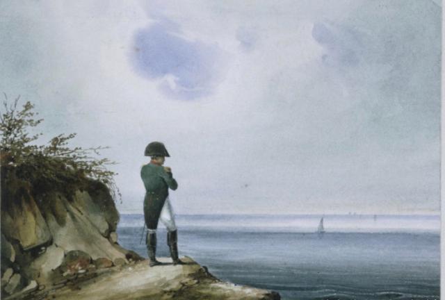 Napoleon at St Helena depitcted by Austrian painter François-Joseph Sandmann.
