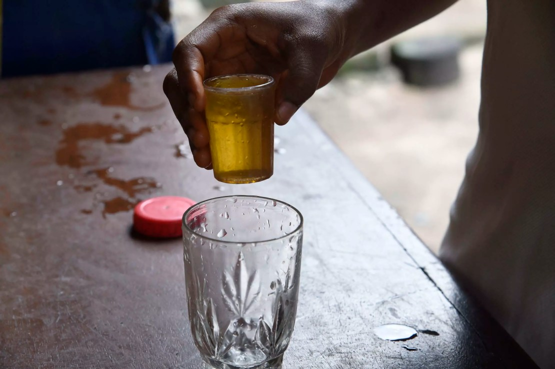 Make mine an ogogoro: The beverage is often infused with herbs that are said to have medicinal benefits