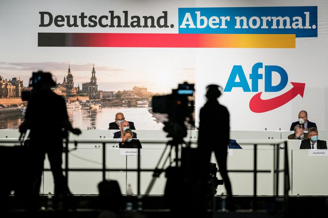 The far-right German party AfD met at a congress in Dresden on April 10-11, 2021 to prepare for the post-Angela Merkel era.