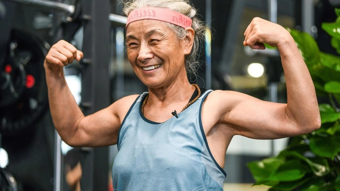 Chen Jifang, 68, works out every day