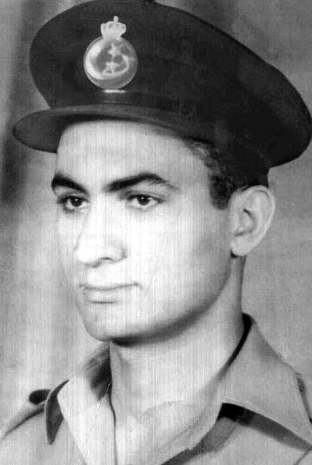 Undated picture of Hosni Mubarak as a young Royal Egyptian Air Force lieutenant, taken before the revolution that deposed King Farouk in 1952.