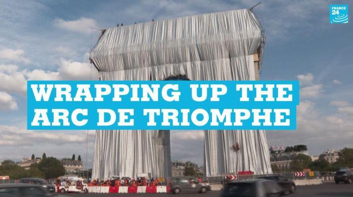 The Arc de Triomphe in Paris on September 12, 2021.