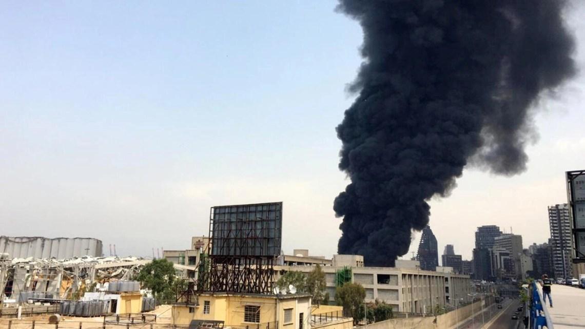 Smoke rises from Beirut's port area, Lebanon September 10, 2020.