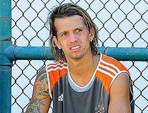 Diguinho no treino do Fluminense
