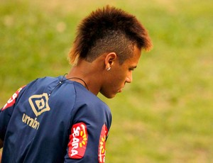 Neymar, treino Santos