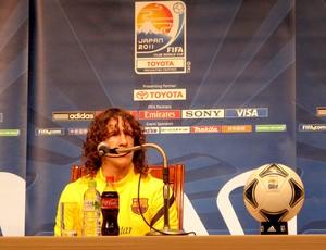 puyol barcelona coletiva (Foto: Thiago Dias / Globoesporte.com)