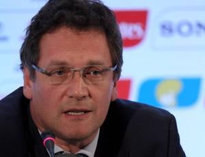 Jerome Valcke, reunião da Copa do Mundo 2014 (Foto: Jorge William/Agência O Globo)