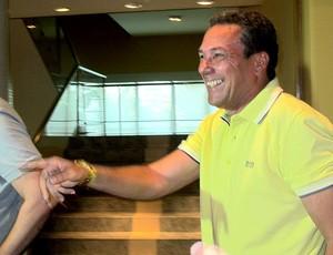 Luxemburgo na coletiva do Flamengo de despedida (Foto: Janir Junior / GLOBOESPORTE.COM)