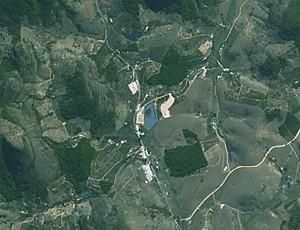 Estádio José Olímpio da Rocha, localizado no Córrego do Café, nem aparece no Google Maps (Foto: Reprodução/Google Maps)