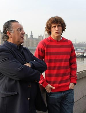 David Luiz com Galvão Bueno (Foto: Reprodução / TV Globo)