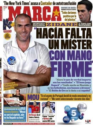 Zidane na capa do Marca