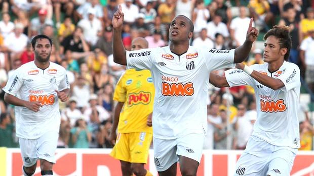 Borges comemora gol do Santos contra o Mirassol (Foto: Ag. Estado)